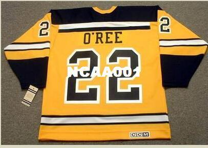 924ff38a Mens #22 WILLIE O'REE Boston Bruins 1960's CCM Vintage Throwback Away  Hockey Jersey