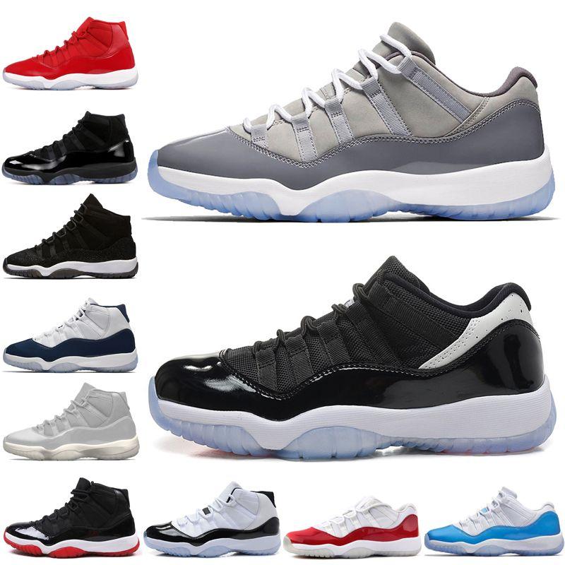 11 11s tapa y bata de noche para morir de baloncesto del Mens gimnasio los zapatos rojos Bred PRM heredera Barons legeng 72-10 zapatillas de deporte de los hombres deportes al aire libre # 1