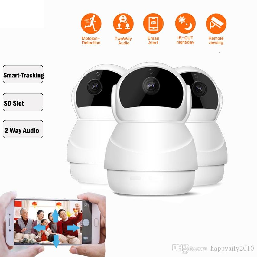 Wireless IP Robot Camera support P2P,Pan Title turn Two Way Audio TF card memory storage Home Security Camera AS-IP801W
