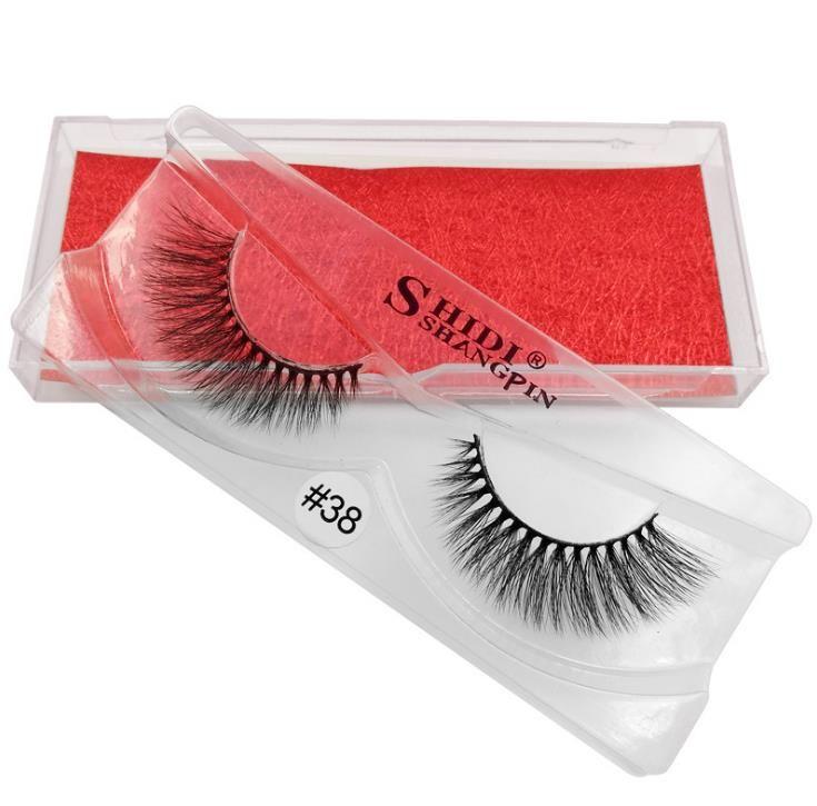 Olhos maquiagem 100% Real Siberian 3D Mink Full Strip Cílios Falsos Longo Cílios Individuais Cílios Vison Extensão 3D a902