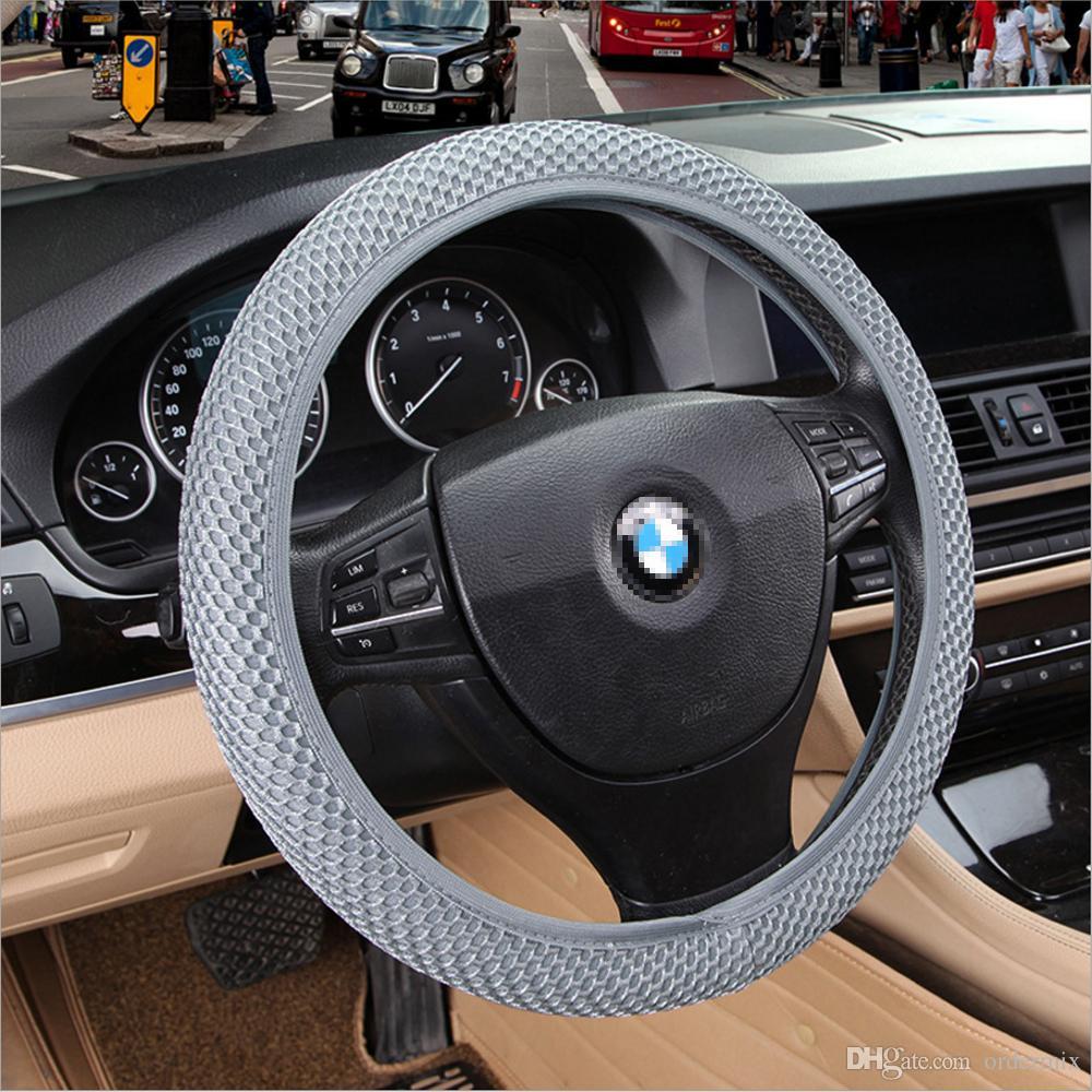 4 klolors Skidproof Transponoszenie Car Kierownicy Pokrywa Kanapka Tkanina Handmade Auto Covers Fit Dla większości samochodów Oddychalność