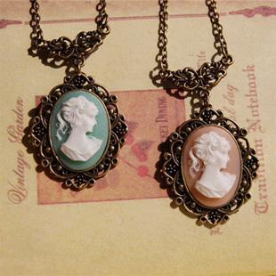 reunirse bb0bc 65e00 Compre 6 Unids / Lote Estilo Victoriano Mary Mary Colgante Collar Rosado  Azul Camafeo Collar Colgantes Largos Collares XL064 A $19.63 Del Cxk3 | ...