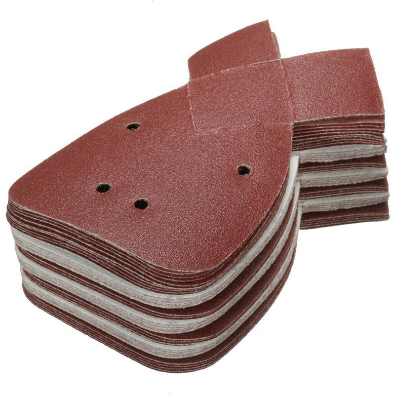 Freeshipping 40Pcs / lot Hojas de lijado de aluminio del ratón de óxido 120 de la arena para caber para el negro y el detalle del apilador para Palm Sander Durable