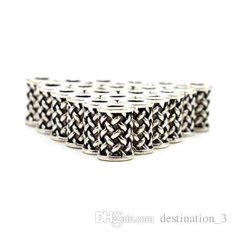 Viking Rune perline barba bauble lega vinatge colore argento big hole Barba perline charms per capelli rune collana fai da te Z0007