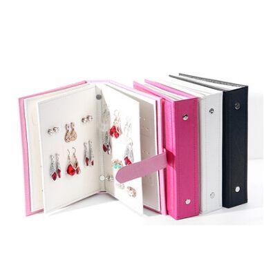 Jewelry Storage Box Creative Earring Storage Book PU Leather Earrings Display Organizer Fashion Women Jewelry Holder