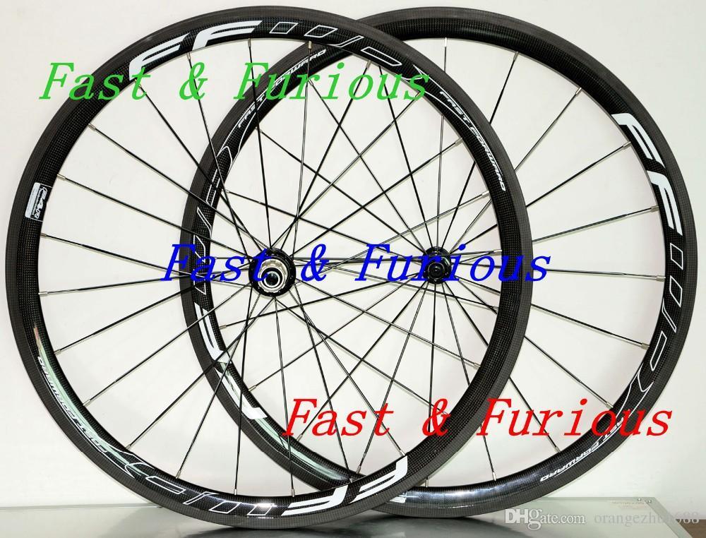 Livraison gratuite !! F4R Carbon Roues 38mm Pneu Boyau Route Carbone Roue 700C 25 mm Largeur vélo de route