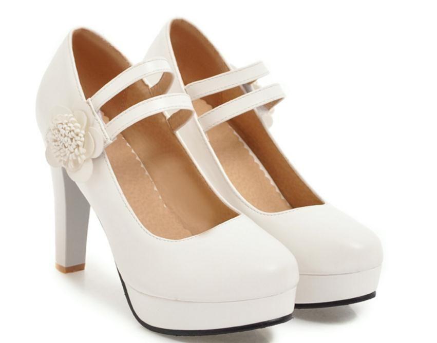 Free send Hot Spring and autumn New style waterproof platform high heels Coarse heel female single shoes