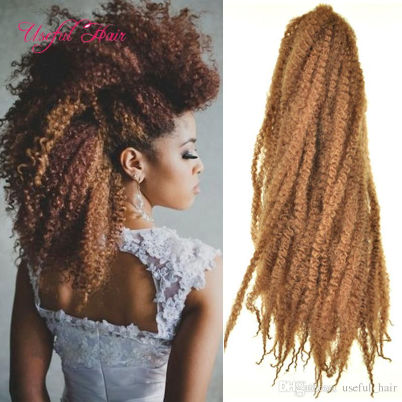 2020 bob marley Afro kinky marley braid curly crochet hair extension synthetic braiding hair Mongolian marley crochet braids for black women