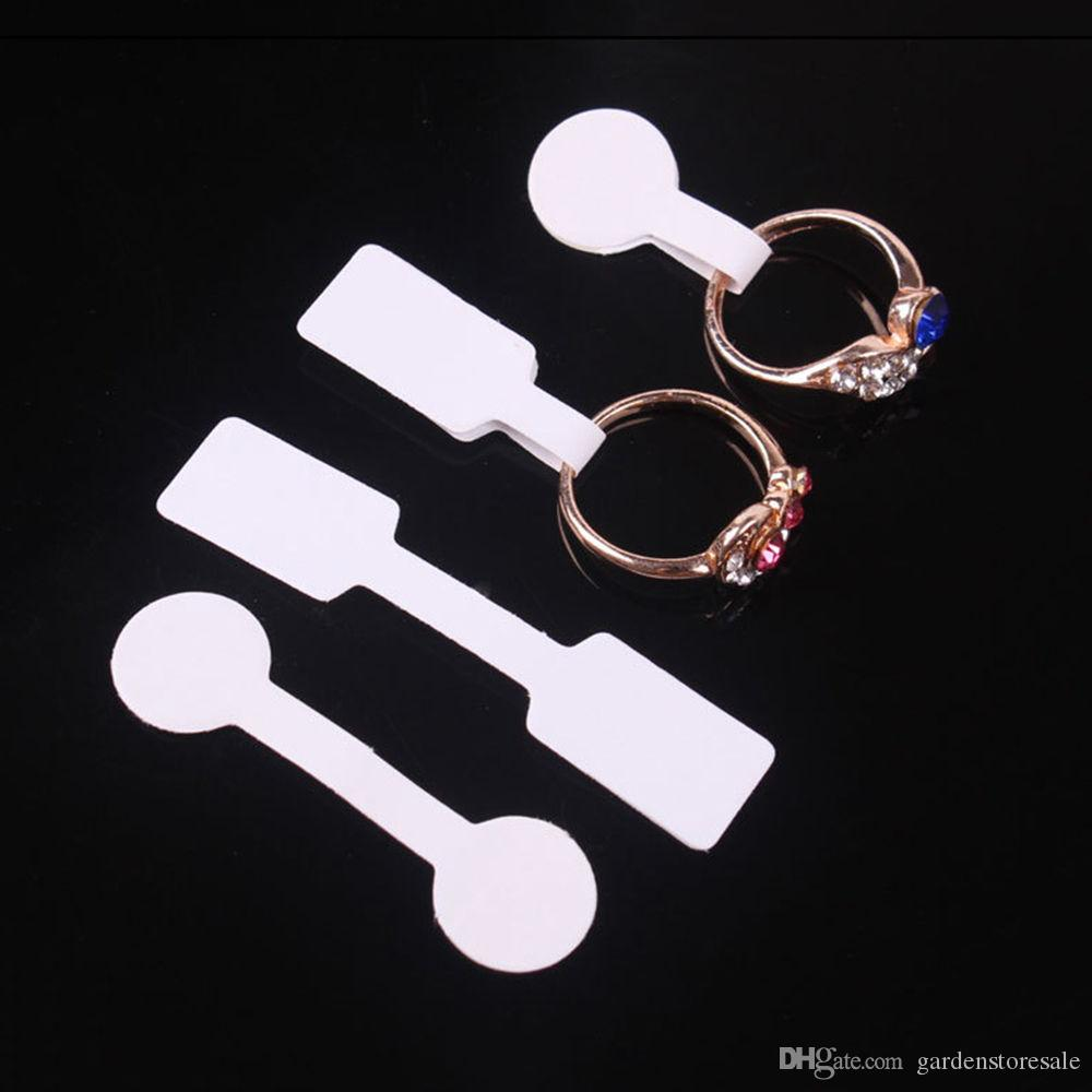 100pcs/bag Blank Price Tags Necklace Ring Jewelry Labels Paper Stickers Retail Store