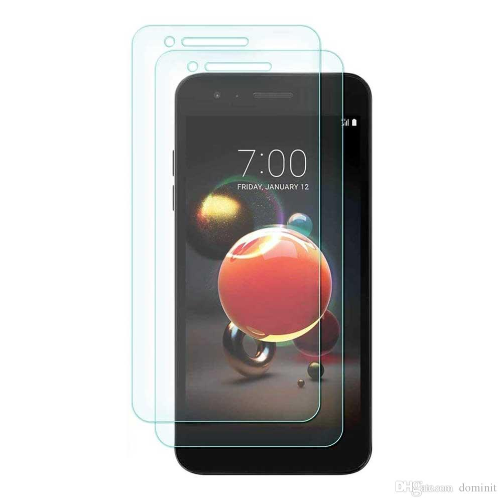 Für lg lg aristo 2 / k8 2018 displayschutzfolie für xiaomi mix 2s gehärtetes glas 2.5d härte 9 h anti-bubble anti-scratch papier paket