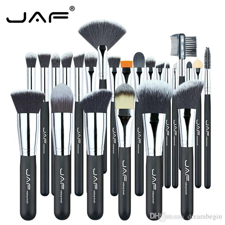 JAF 24pcs Professional Makeup Brushes Set High Quality Make Up Brush Soft Synthetic Full Function Cosmetic Tool Kit