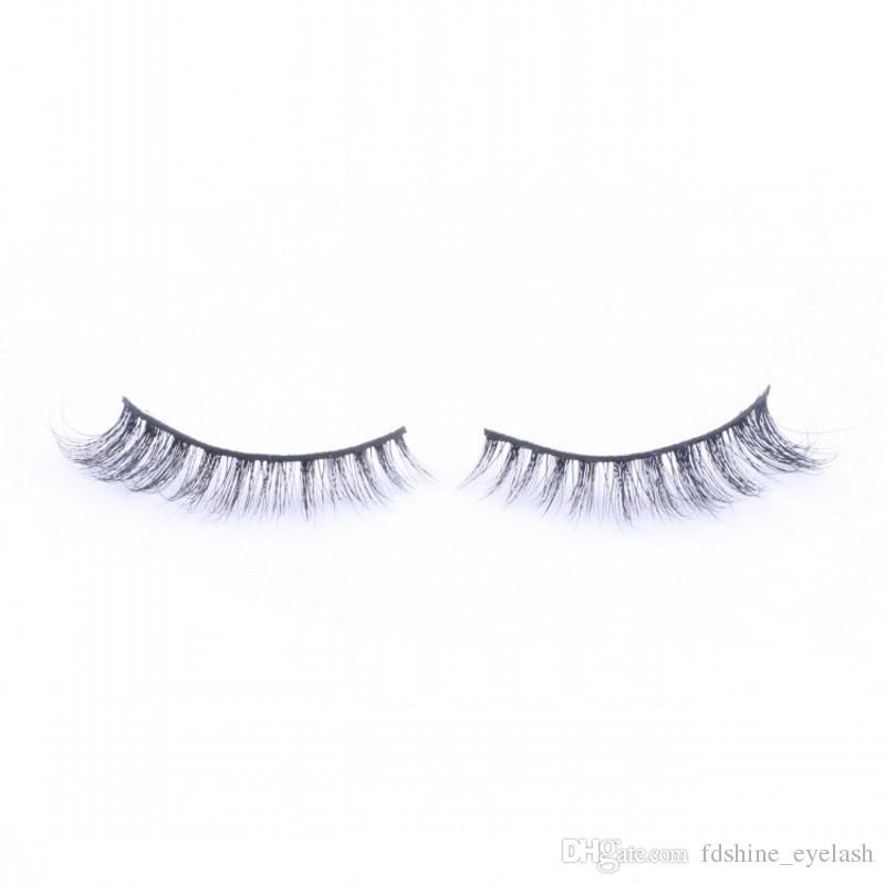 2018 Hot Selling 3D False Eyelashes Comfortable Soft Real Handmade Mink Hair Lashes Natural Long Black Eyelash Extensions