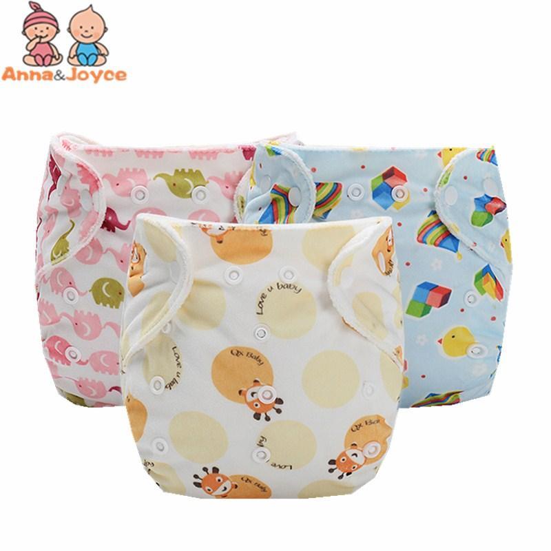 1 PC at random color Washable Cloth Nappy Printed Baby Reusable Cloth Diaper