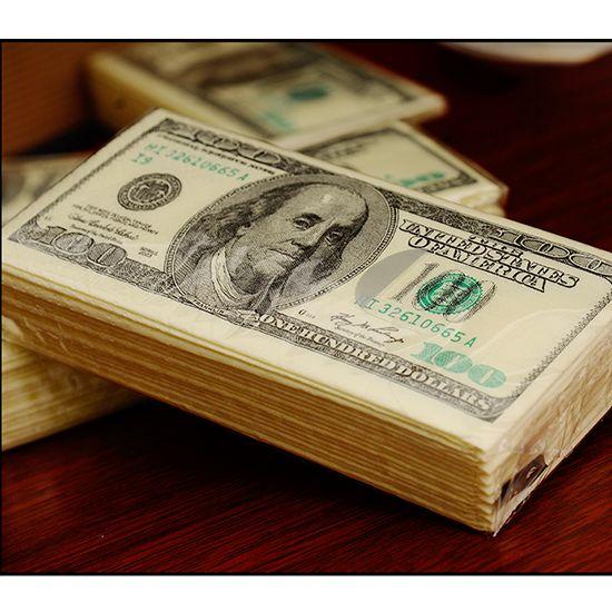Stiel/® Lot de 100 mouchoirs en papier Motif dollars