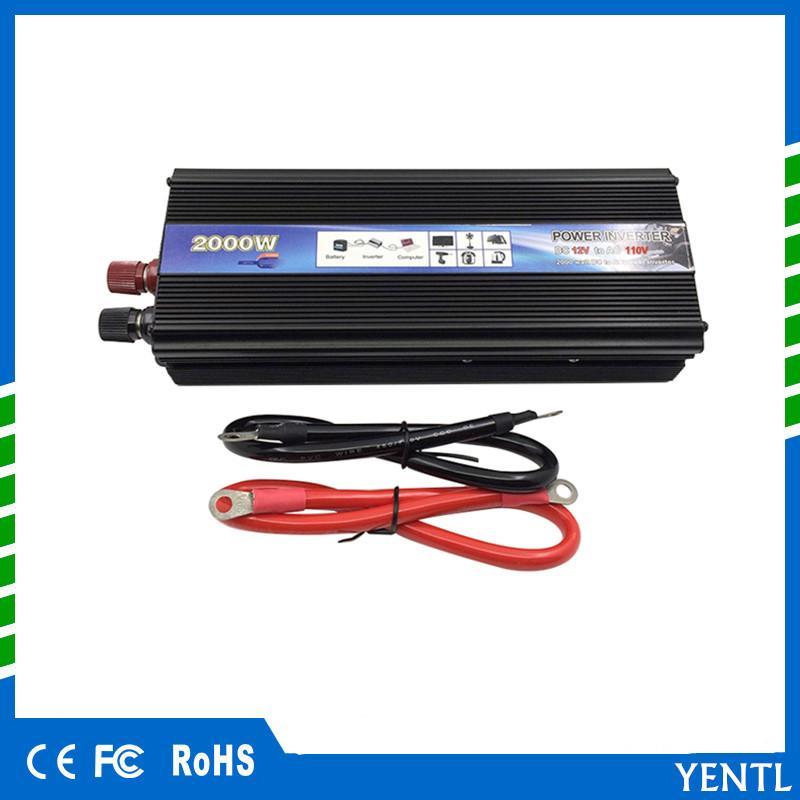 Freies Verschiffen heißen Verkaufs-Auto-Energien-Inverter 2000W Watt 2000w DC 12V bis 220V AC Fahrzeug-Batterie-Konverter Stromversorgung On-Board-Ladegerät Schalter