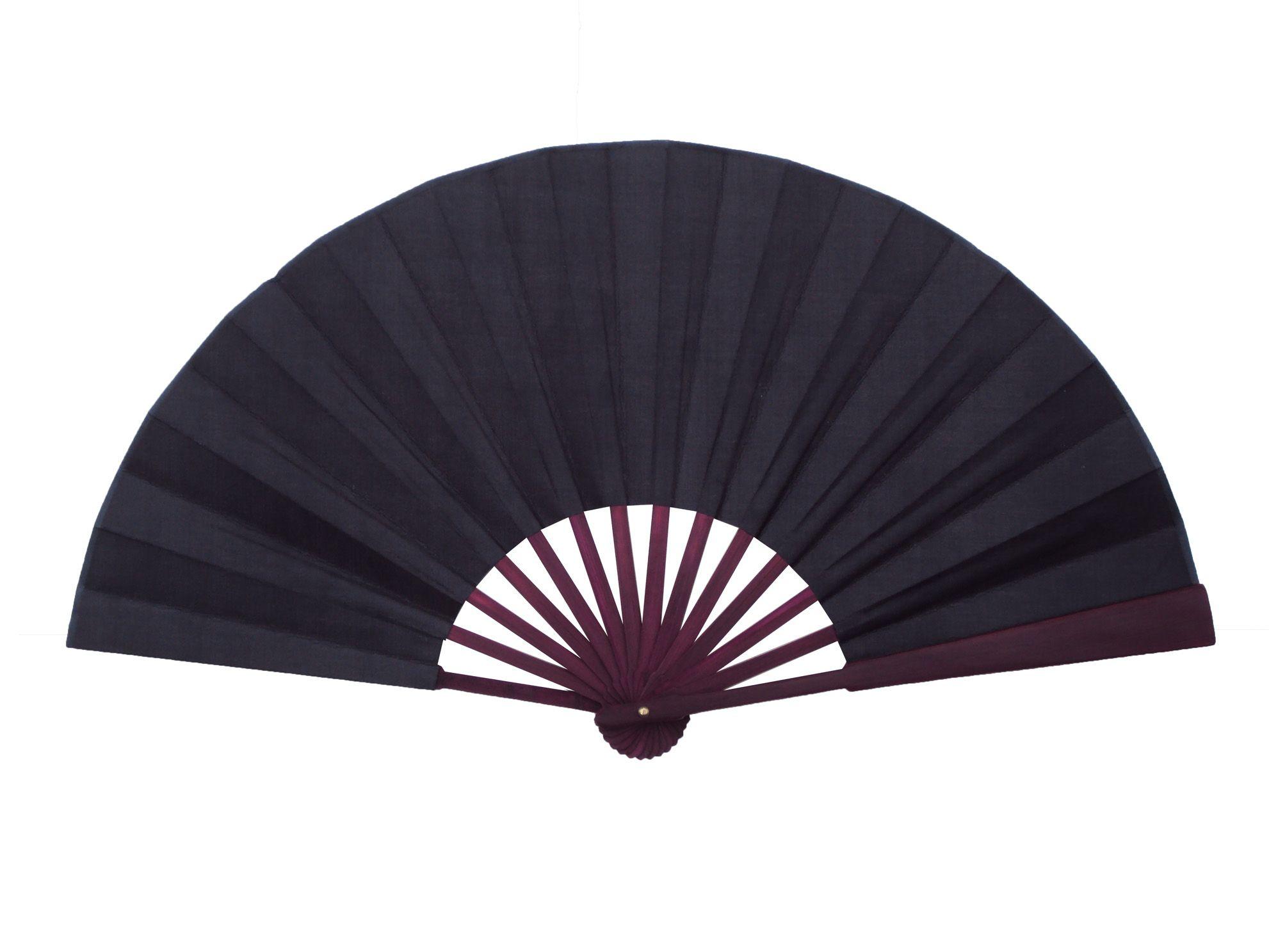 Grande Pianura nero Ventilatore a mano fai da te pieghevole di seta cinese Fan età Arte Pittura programma della decorazione della casa Mestieri regalo Mens 10pcs / lot