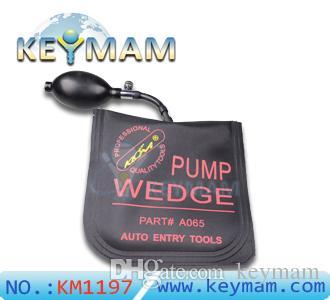 잠금 해제 자동차 문을위한 새로운 KLOM 펌프 WEDGE 에어백 공기 쐐기 펌프 웨지, 키 자물쇠 도구, 검정색의 중간 크기 범프