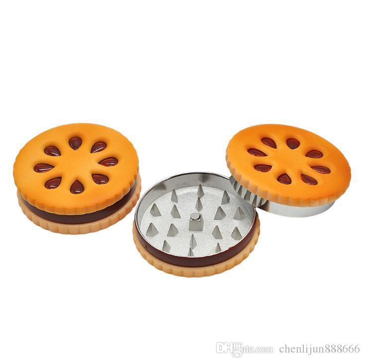 Diameter 56mm biscuit smog, metal grinder, two layer fume breaker