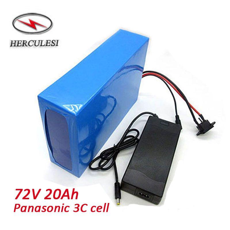 20S7P NCR18650PF Li-Ion 72 V 20AH Batteria al litio 50A BMS per scooter bici elettrica 72V 3000W 3500W