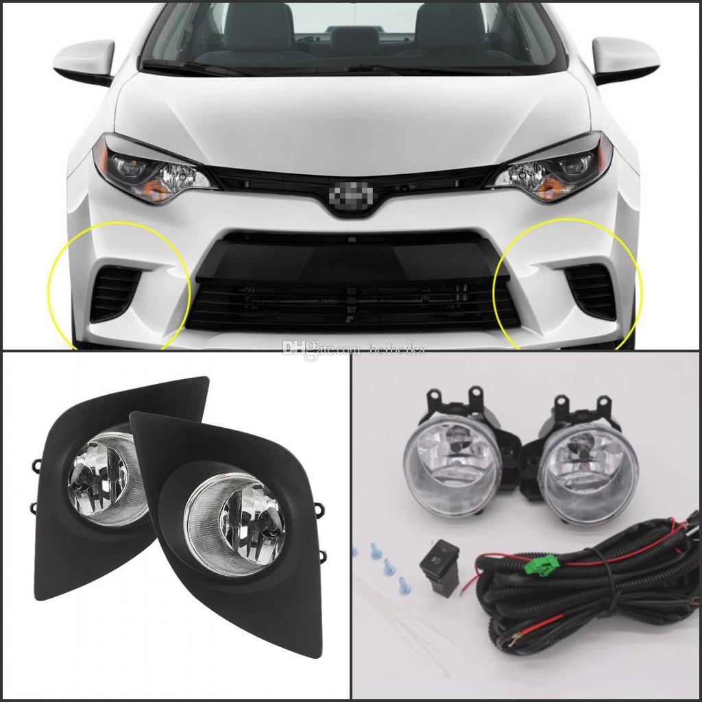 Lámpara antiniebla para Toyota COROLLA (TIPO EE. UU.) 2014-2015 Juego de montaje de repuesto de cubierta de la lámpara antiniebla delantera (kit de montaje) (un par)