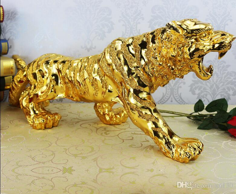Furniture Decoration Family Car Office Lucky Decoration Evil Town House Tiger Decoration Plating Resin