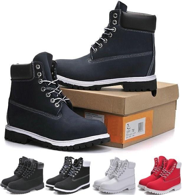Kış Erkekler Kadınlar Su geçirmez Açık Boots Çiftler Gerçek Deri Sıcak Kar Bot Casual Martin Boots Yürüyüş Spor Ayakkabıları Yüksek Cut