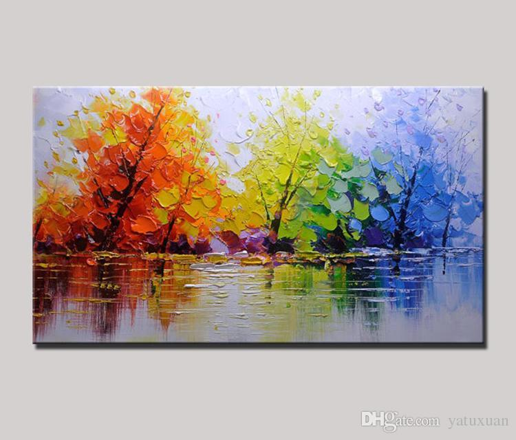 2020 Handpainted Wall Decor Picture Streetscape Wall Oil Painting
