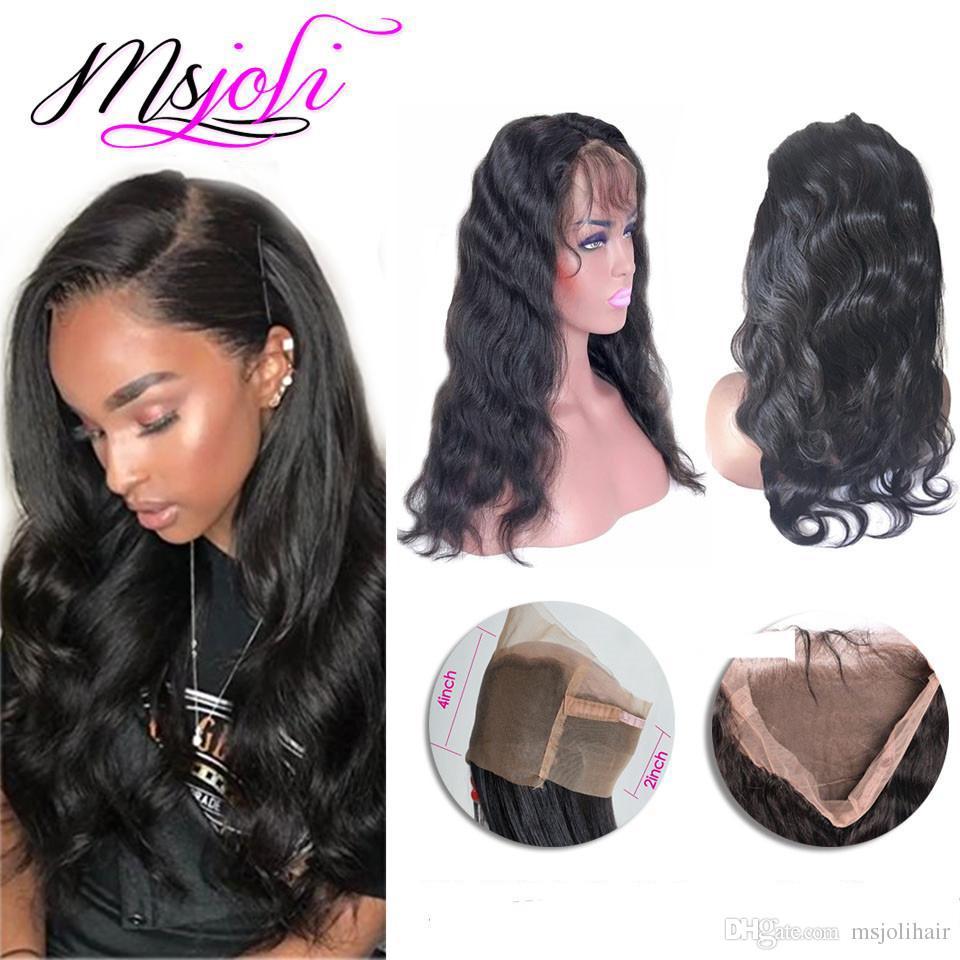 البرازيلي الإنسان عذراء الشعر 360 الدانتيل أمامي موجة الجسم الجمال جزء الحرة غير المجهزة الشعر جديد وصول 8 إلى 22 بوصة بواسطة msjoli