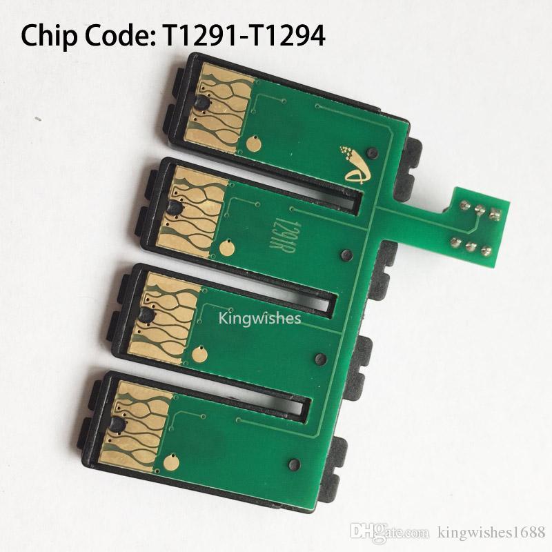 Puce combinée de réinitialisation de T1291-T1294 CISS pour Epson WF-7015 WF-7515 WF-7525 WF-3010DW WF-3520DWF WF-3530DTWF WF-3540DTWF
