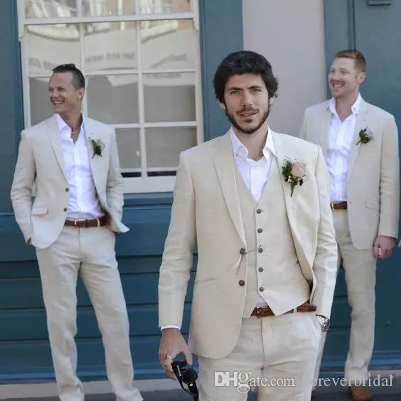 Mens Classic Fit Groom Wear Formal Wedding Suits Three Piece Suit (Jacket+Pant+Vest) Bridegroom Peaked Lapel Wedding Tuxedos