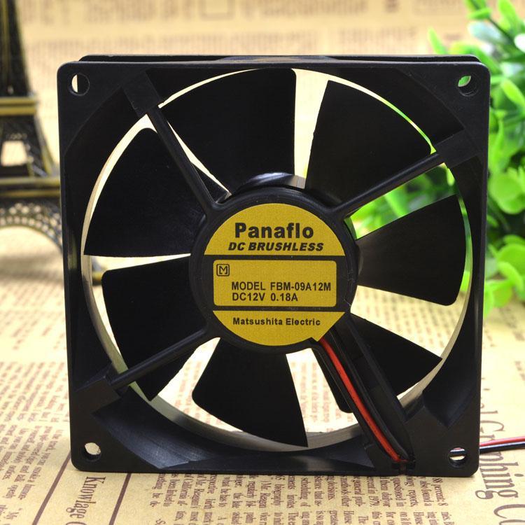 FOR Panafllo Panasonic 9cm Fan 9025 Cooling Fan 12V 0.18A FBM-09A12M 2 Line