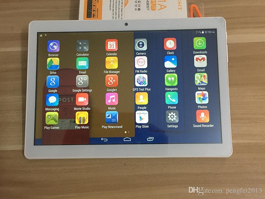 Tablet PC de 10,1 polegadas MTK6580 telefone Quad Core 3G Tela Android4.4.2 Tablet 1GB Ram 16GB Rom IPS com Bluetooth