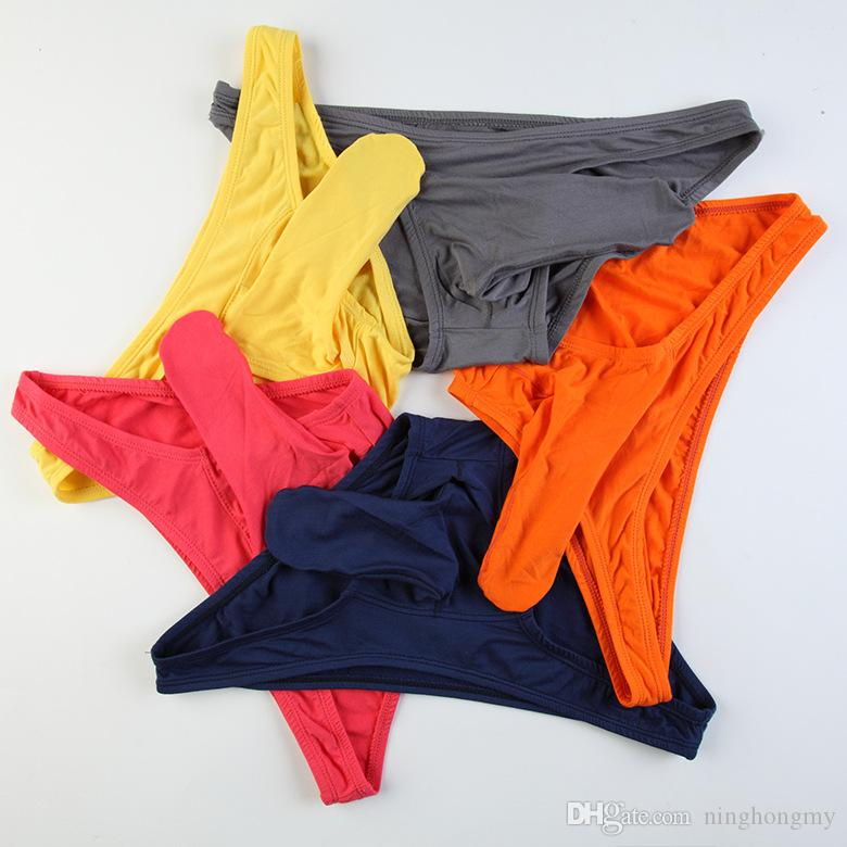 Men/'s low waist U-convex Modal underwear panties elephant nose thongs size:S-XL