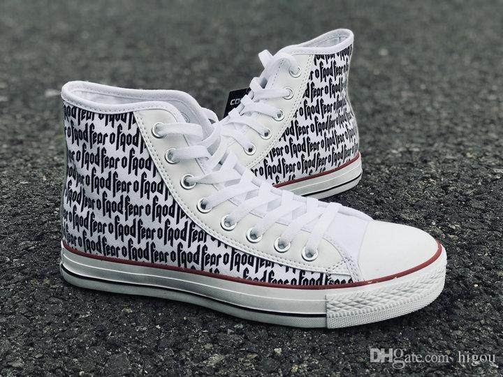... 2018 New fear of god X Converse Chuck All Stars Classic white Casual  Canvas Running Shoes ... 0da25fd11d