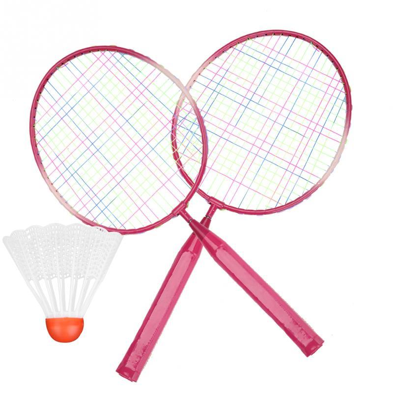 Kinder Kinder Badmintonschläger Schläger Federball Set Legierung Badmintonschläger Praxis Training Leichte Schläger mit Bällen