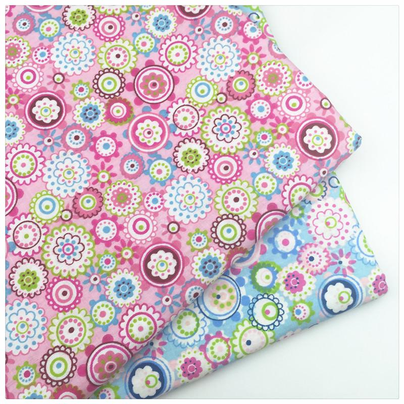 Floral Print 100% Cotton Twill Fabric By Meter For DIY Handmade Sewing Bedding Cloth Home Material to Patchwork