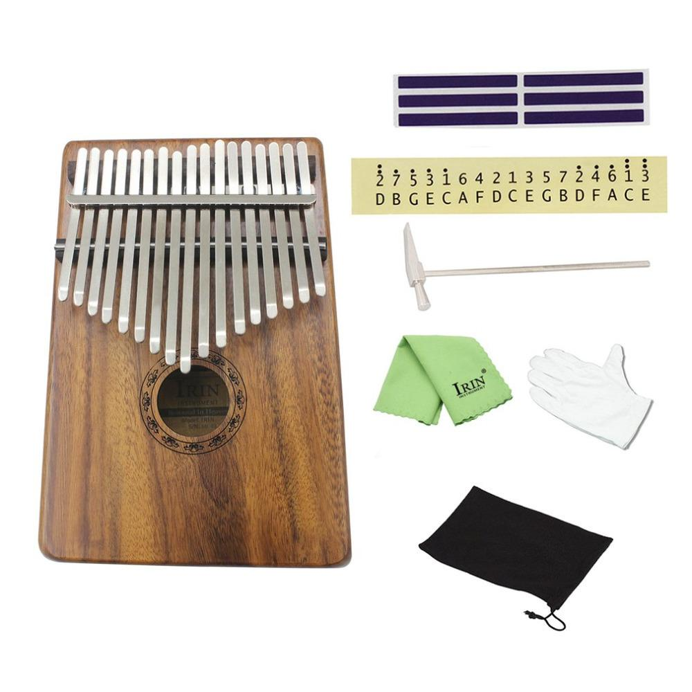 Natural 17 Keys Finger Thumb Pocket Piano Kalimba Mbira Thumb Piano Education Toy Musical Instrument Great Gift