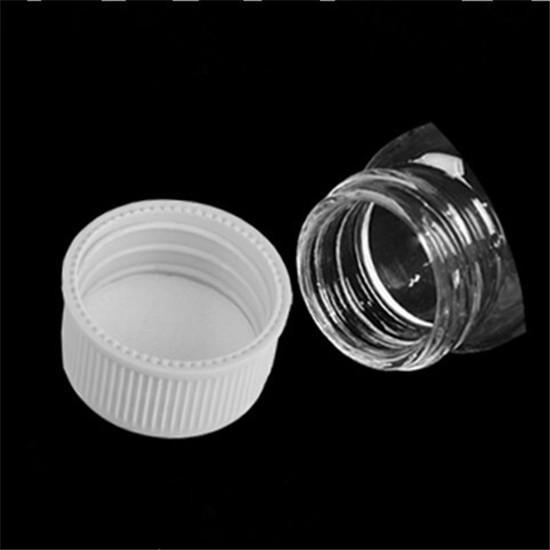 Glass Bottles With Cap Transparent Clear mini small Empty Plastic Bottles Jars Cosmetic Containers