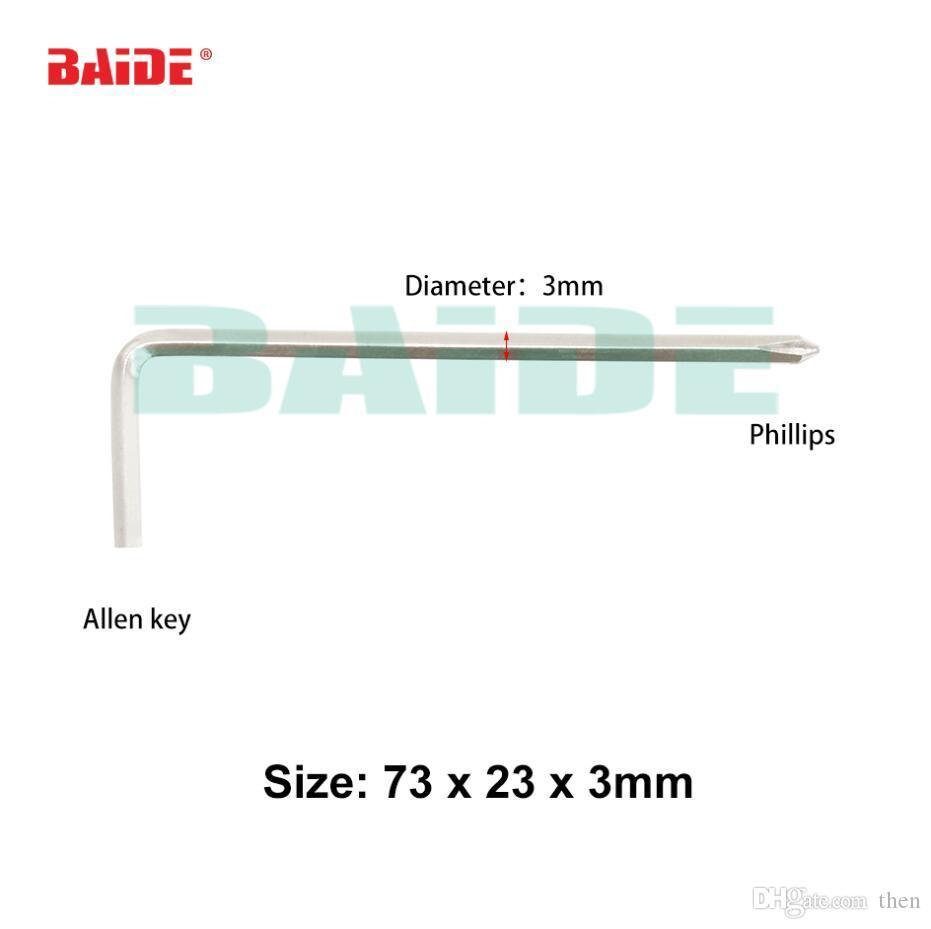 73 x 23 x 3mm Allen Key Screwdriver Tools Phillips L Key 45# Steel Screw driver Tools 2000pcs/lot