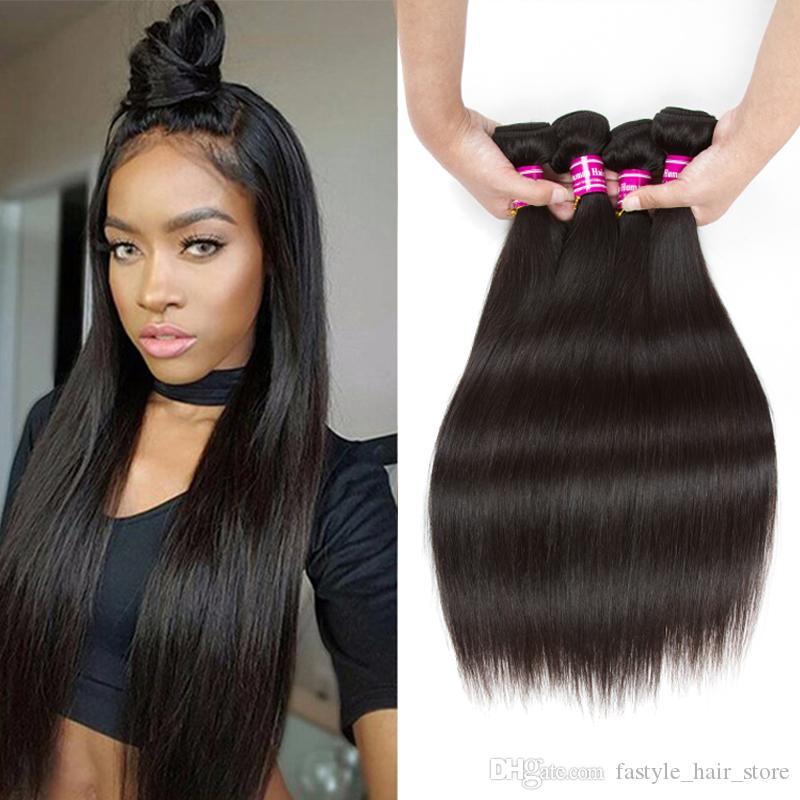 Mink Peruvian Human Virgin Hair Bundles Straight Hair Weaves Unprocessed Brazilian Malaysian Indian Virgin Human Hair Extensions Wholesale