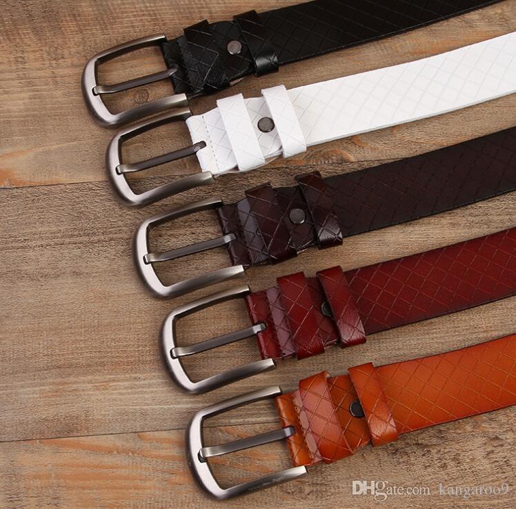 Designer Belt Men and Women Fashion Belts Women Genuine Leather Belt More Color Buckle Leather belts with box