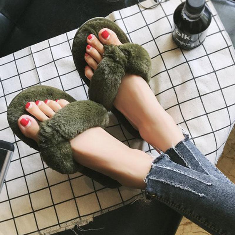 Atacado Casa de Tecido Chinelos Mulheres Inverno Confortável Sapatos de Casa Macia Chinelos Flip Flops De Pelúcia Senhoras Sapatos XWT1489