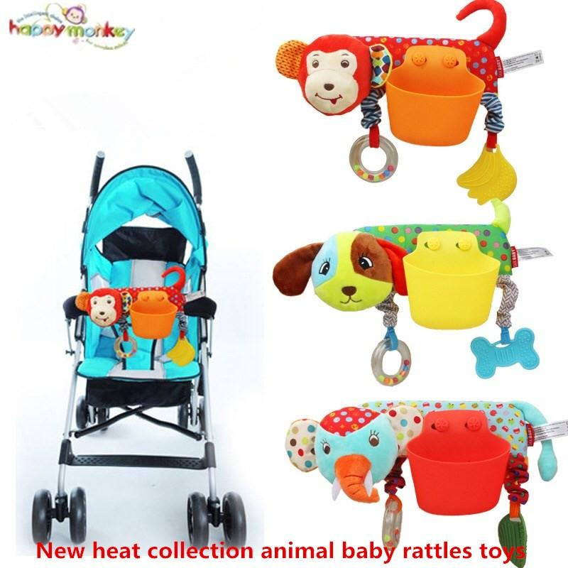 Plush Infant Toys Baby Crib Revolves Around The Bed Stroller Playing Toy Elephant Animal Crib Lathe Hanging Baby Rattles Mobile