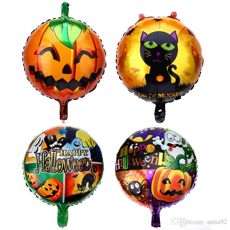 Halloween Special Aluminum foil Balloons Funny Pumpkin/Cat/Happy Halloween Printed Balloons Halloween Decoration Supplies free shipping hot
