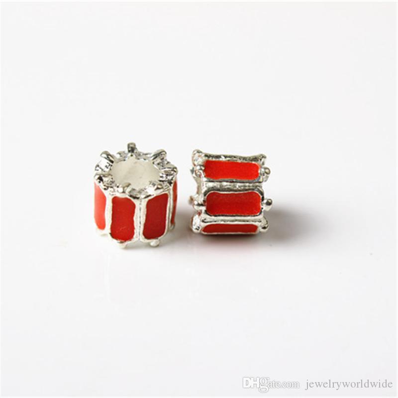 Monili delle donne di modo della perla del fascino unico rosso della vernice rossa Stunning Design stile europeo per il braccialetto del braccialetto di Pandora