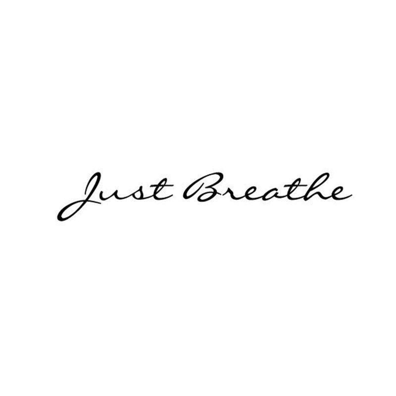 Just Breathe vinyl wall lettering quote decal//sticker//wall decor