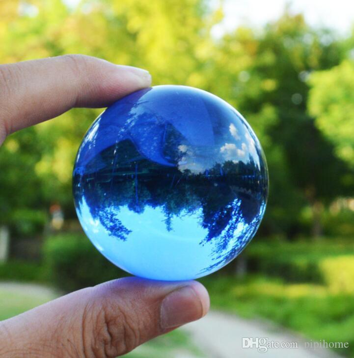 40MM Çok renkli Kristal Küre Asya Nadir Doğal Sihirli Boncuk Şifa Küre Globe Kuvars Fotoğrafçılık Toplar Kristal Craft Dekor