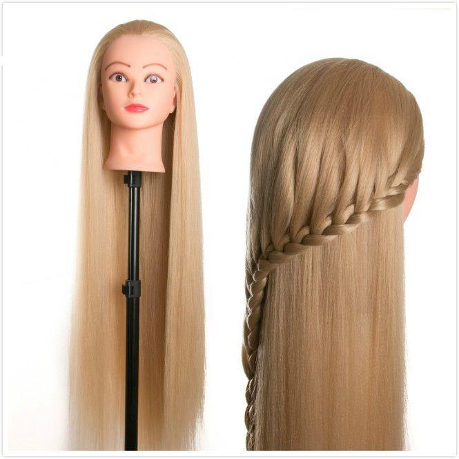 Cabello 80 cm pelo maniquí femenino peinados Peluquería Styling Formación cabeza para peluqueros muñecas