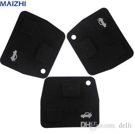 Maizhi 2 pcs Substituição Shell chave do carro Remoto Almofadas De Borracha De Silicone 2 3 Botões para Toyota Avensis Corolla Lexus RVA4 Styling