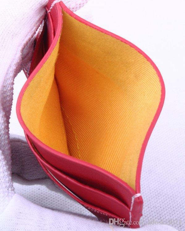 Calidad Marca Nuevo Classic Men Goya Estilo famoso de lujo GY Genuine Top Paris Mujeres Diseñador Mini Clásico Tarjeta de crédito Titulares de cuero DTRQQ